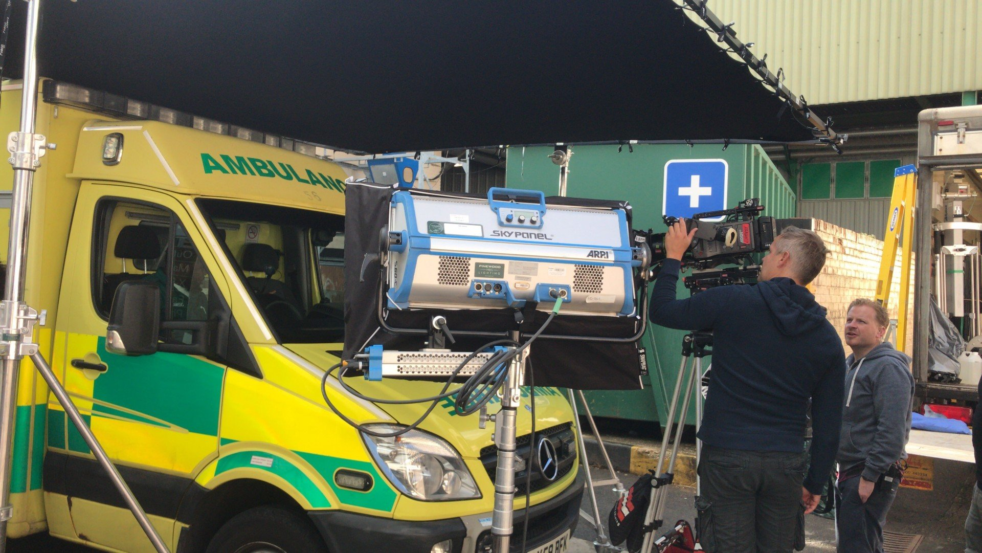 Ambulance being filmed