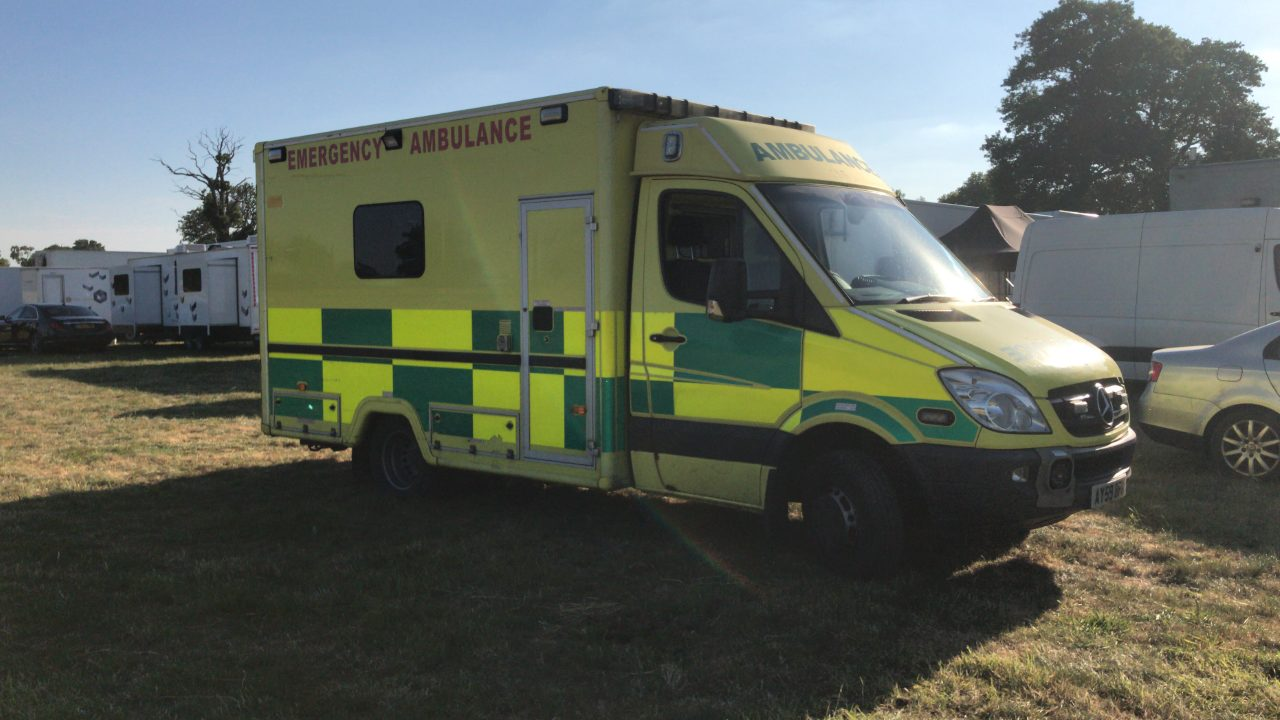 Emergency ambulance van